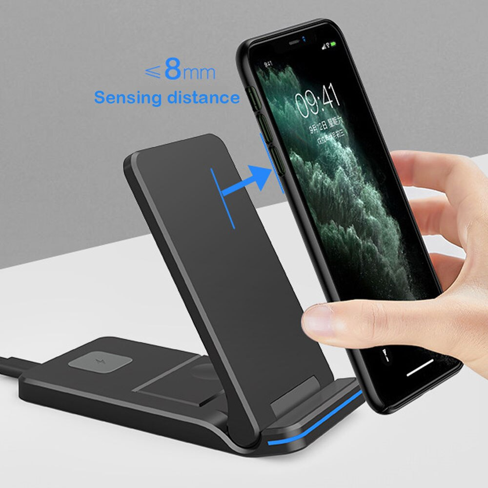 15W wireless charging new wireless charging three-in-one Z6E folding manufacturers wholesale applicable to Apple mobile phone wa