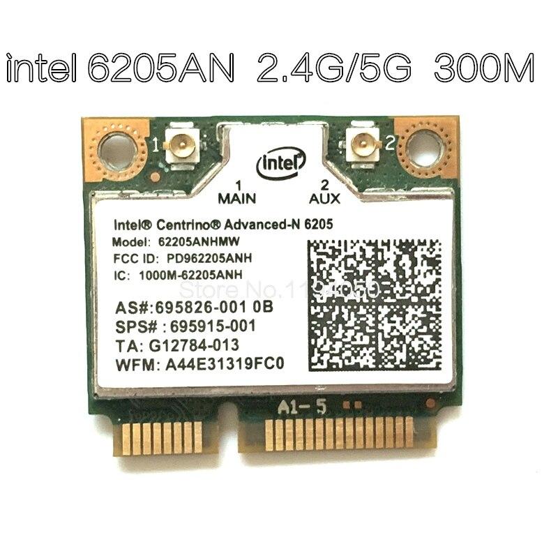 WDXUN 300 м двухдиапазонный сетевой адаптер Wlan для Intel Advanced-N 6205 62205AN 300 Мбит/с беспроводной Wifi 2,4 ГГц 5 ГГц мини PCI-E карта
