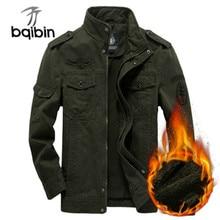 2021 Winter Tactical Military Jacket Men Warm Air Force Pilot Jacket Plus Velvet Male Coat Mens Jack