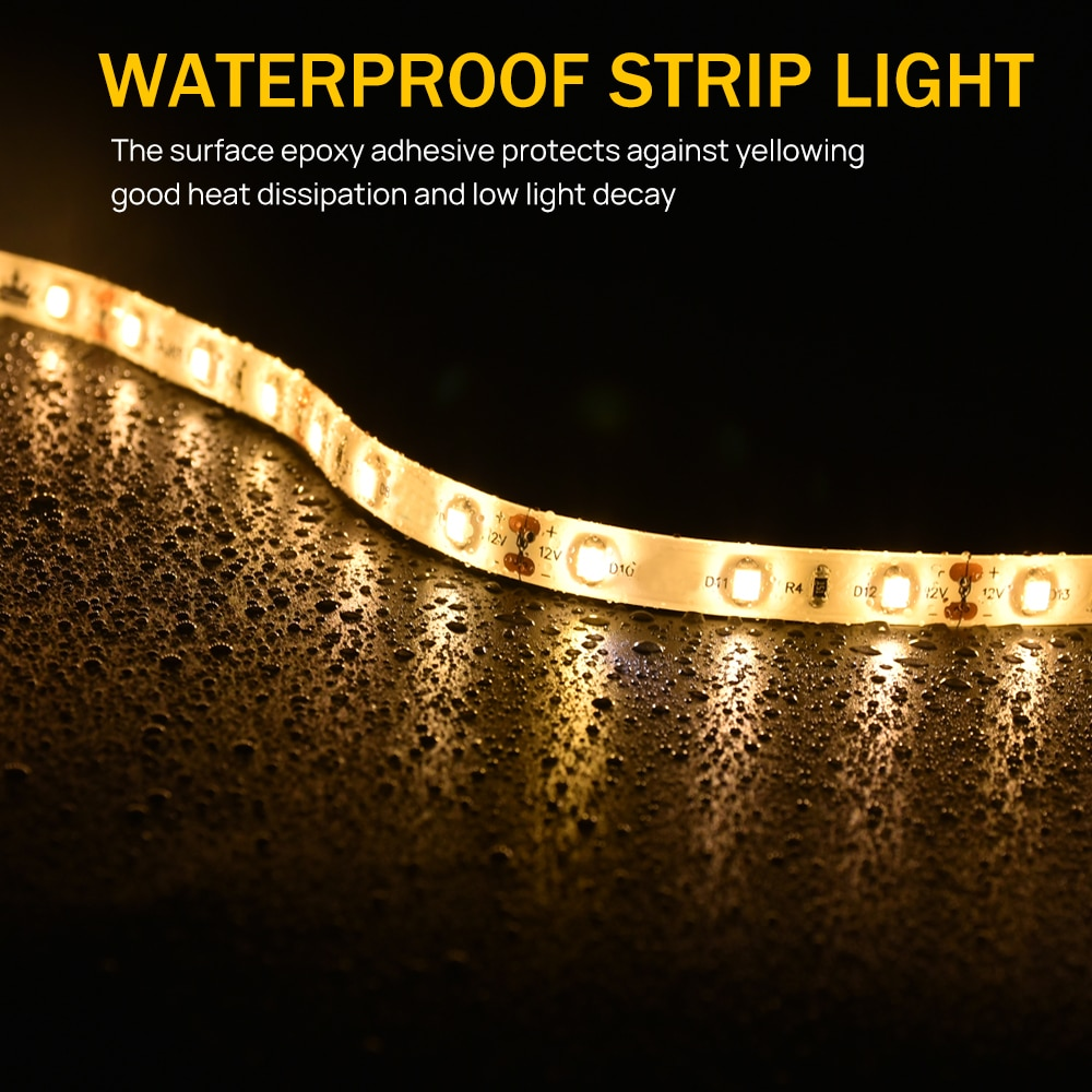 11 Steps Warm White 0.5M Stair lighting System Motion Sensor with LED Strip-Plug and Play enlarge
