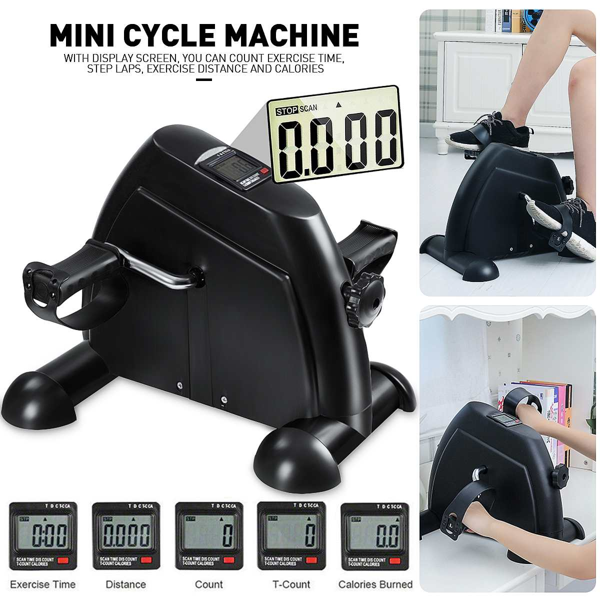 Multi-functional Mini Steppers Running Machines Sport Treadmills Home Lose Weight Pedal LCD Fitness