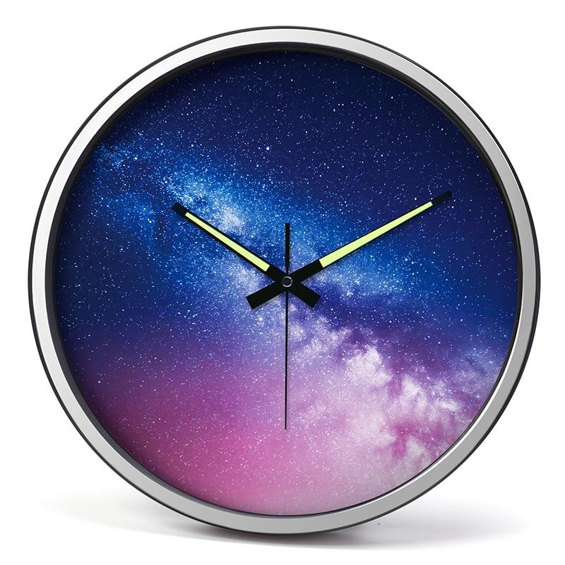Reloj mural luminoso Para sala De estar, reloj Digital De Pared grande, silencioso, De Pared, De Metal, AA50WC
