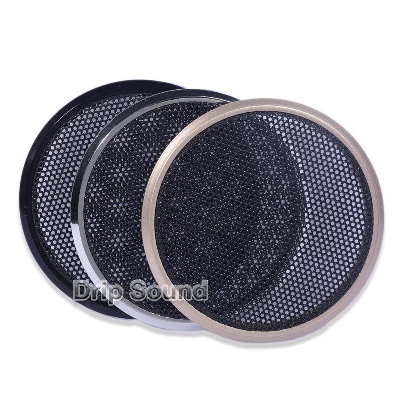 """2 pces para 2 """"/2.5"""" polegada falante conversão net capa de áudio do carro decorativo círculo malha metal grade"""
