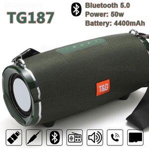 Портативный Bluetooth динамик 30 Вт Беспроводная басовая Колонка водонепроницаемый уличный динамик поддержка AUX TF USB Бумбокс стерео громкий дина...
