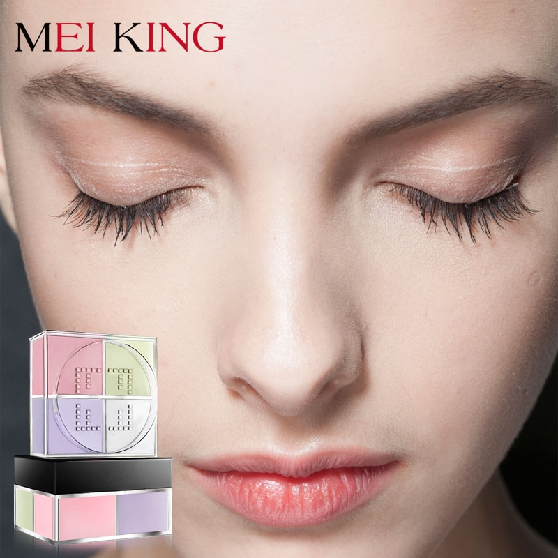 Corrector facial mate suelto en polvo para iluminar el Control de aceite, maquillaje de larga duración de 24 horas, maquillaje mate exquisito MEIKING