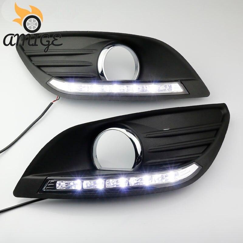 Luces diurnas LED DRL para Ford Focus 2 MK2 2009 2010 2011 2012 2013 2014 luces diurnas con función de atenuación automática