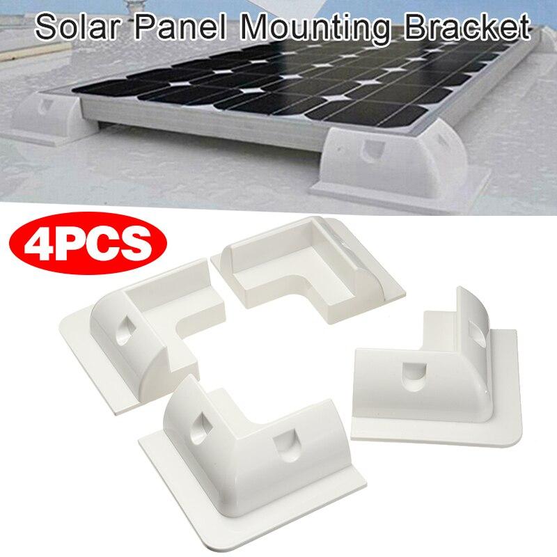 4 قطعة الشمسية لوحة تصاعد قوس الأبيض البلاستيك الشمسية لوحة تصاعد تحديد قوس عدة للقوافل قافلة الشاحنات الحافلات قوارب