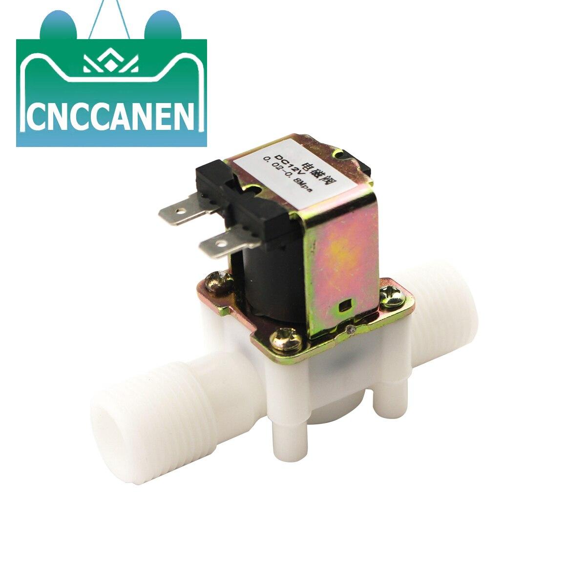 "1/2"" Plastic Solenoid Valve 12V 24V 220V Magnetic Water Control Valve Pneumatic Pressure Controller Switch Normally Closed N/C"