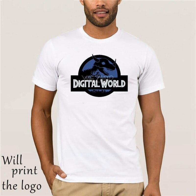 2019 gran oferta moda verano estilo Cool Retro camiseta Digital mundo Digimon Park camiseta ropa Casual de alta calidad