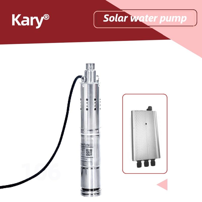 Kary 24v dc bomba de agua 0.286hp dc solar sumergible precio dc mini bomba de agua para la Agricultura