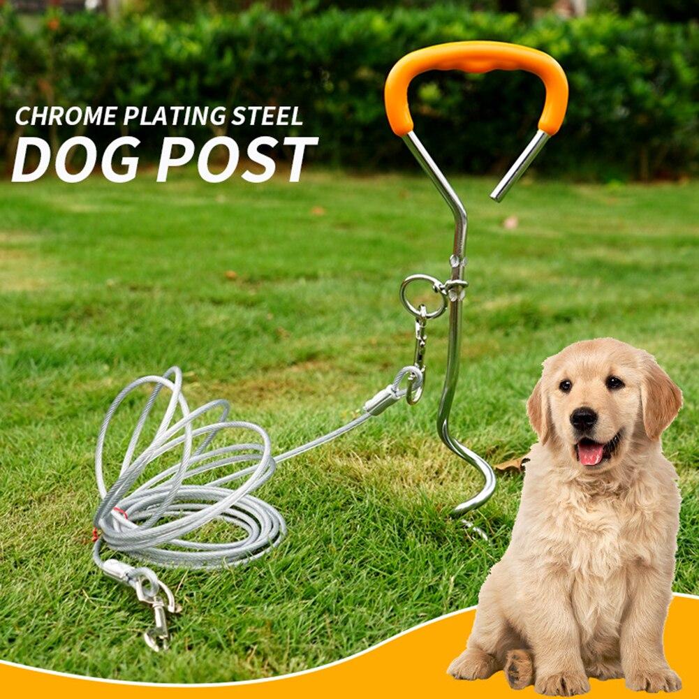 Herramienta para caminar para mascotas, resistente, para acampar, con espiral