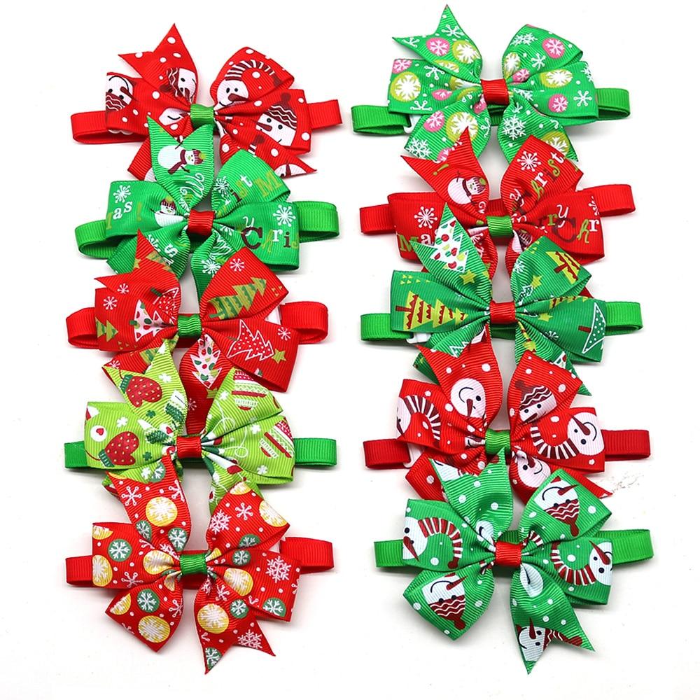 30pcs Dog Bowtie  Christmas Pet Bow Tie  Christmas Pet Supplies Dog Accessories Small Dogs Cat Bowti
