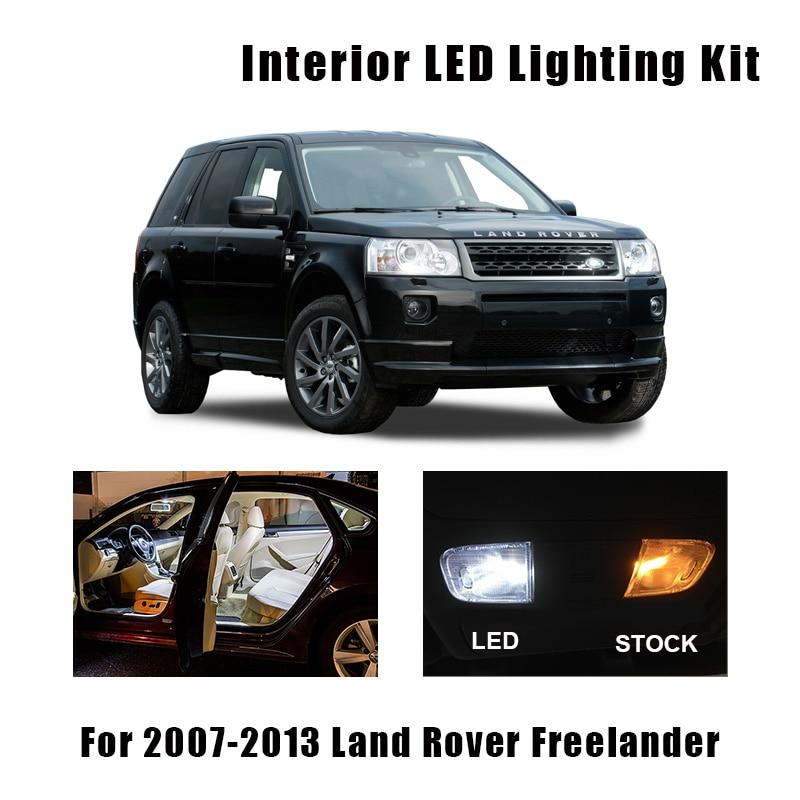 14pcs White Error Free LED Interior Reading Ceiling Light Package Kit For 2007-2013 Land Rover Freelander 2 LR2 Cargo Door Lamp