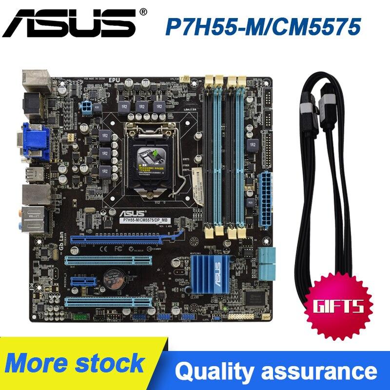 ASUS P7H55-M/CM5575 PC Motherboard LGA1156 DDR3 H55 Desktop Mainboards Set