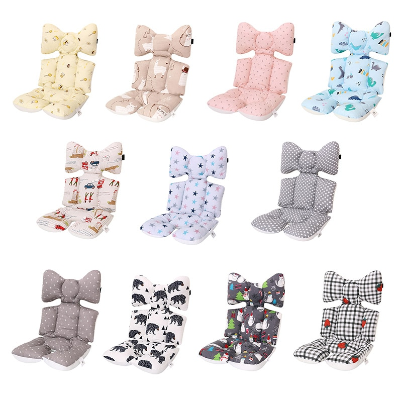 Baby Stroller Seat Cushion Thick Warm Car Seat Pad Cotton Sleeping Mattresses Pillow For Carriage In