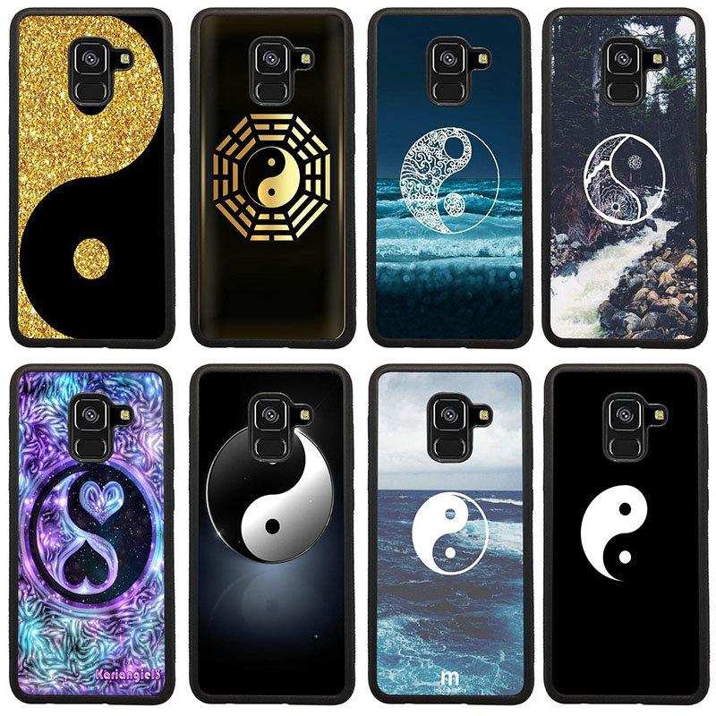 Los ocho diagramas duro TPU PC caja del teléfono para Samsung Galaxy A5 A7 A8 J3 J4 J6 J7 J8 2017 2018 S7 S8 S9 S10 Pluss bolsas
