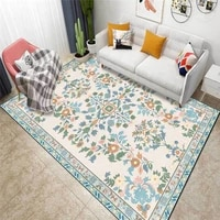 american style pastoral style floral rug pink green european style carpet living room bedroom bed blanket kitchen floor mat