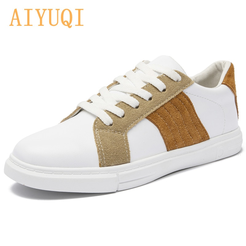 AIYUQI White Sneakers Shoes Women Tide 2021 Summer New Genuine Leather Student Shoes Women thick-soled Casual Shoes Women