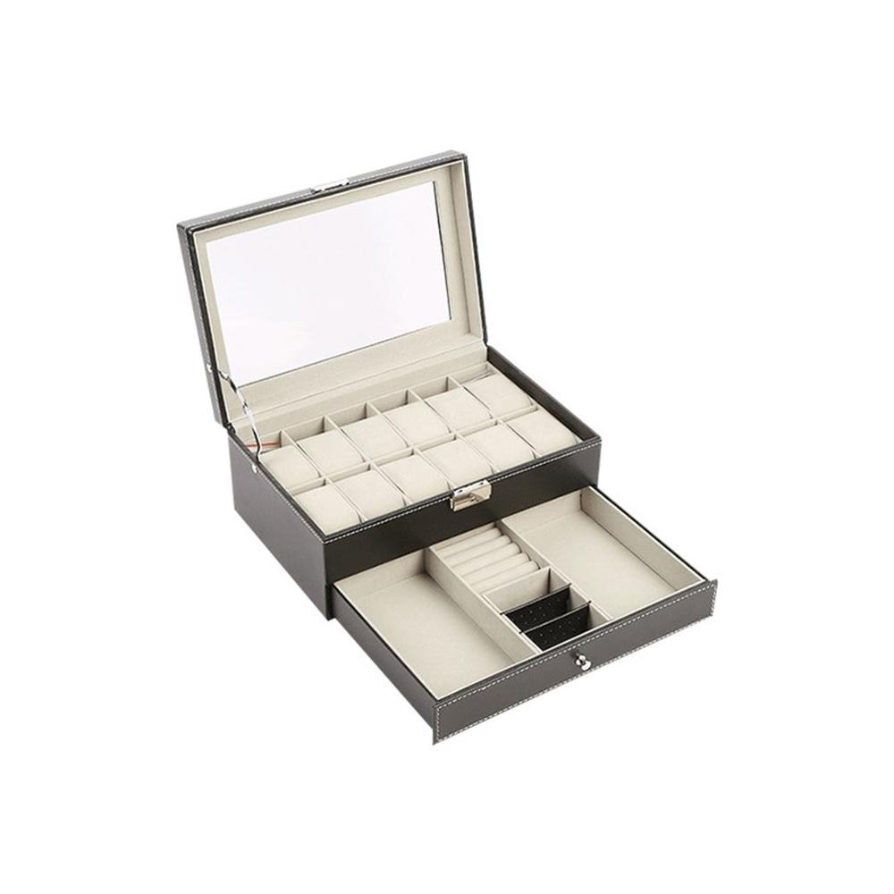 12 slots caixa de relógio de viagem portátil relógio com zíper caso relógios coletor exibição titular caixa de armazenamento organizador dropshipping
