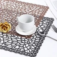 lace flower water oil resistant non slip kitchen placemat coaster insulation pad dish coffee cup table mat home decor 51117