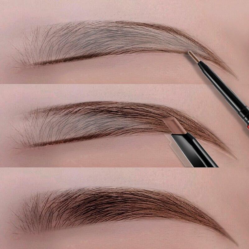 Lápis de sobrancelha de longa duração, maquiagem à prova d água natural de longa duração, caneta ultra fina 1.5mm