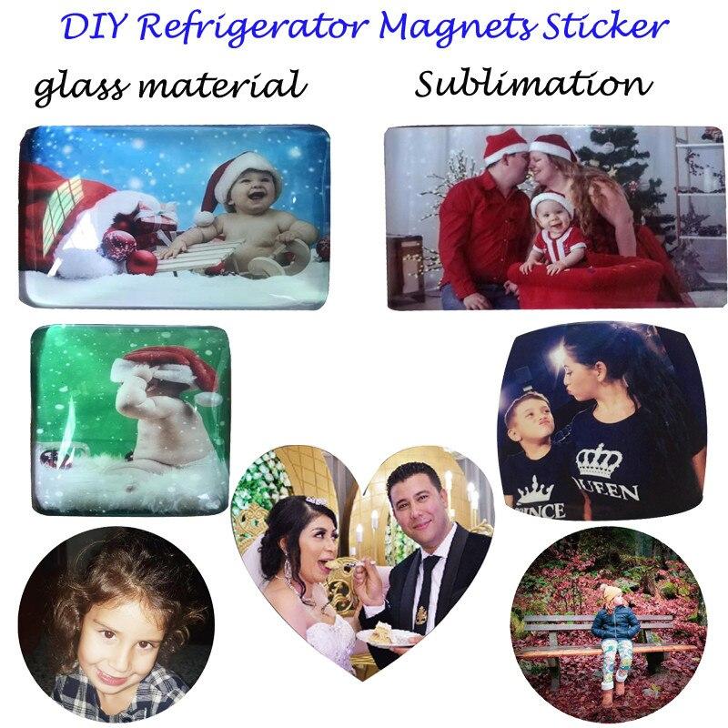 Сделай Сам магниты на холодильник на заказ стикер для ваших любимых ребенок семья холодильник магнит фото счастливый 1 день рождения подарок магнит на холодильник