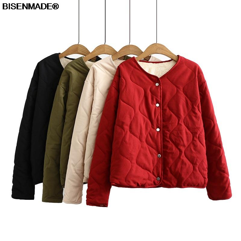 Winter Parka Women Clothes Plus Size&Curve 2021 New Fleece Coat V Neck Padded Jacket