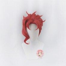 JOJO's Bizarre Adventure Stardust Crusaders Kakyoin Noriaki Red Ponytail Wig Cosplay Costume Heat Resistant Synthetic Hair Wigs