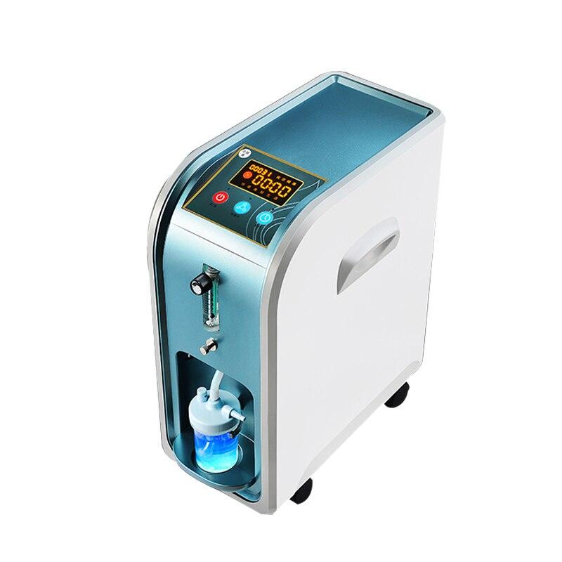 مولد أكسجين منزلي 220 فولت لتنقية الهواء المحمولة مولد أكسجين قابل للتعديل مولد أكسجين آلة شفط الأكسجين