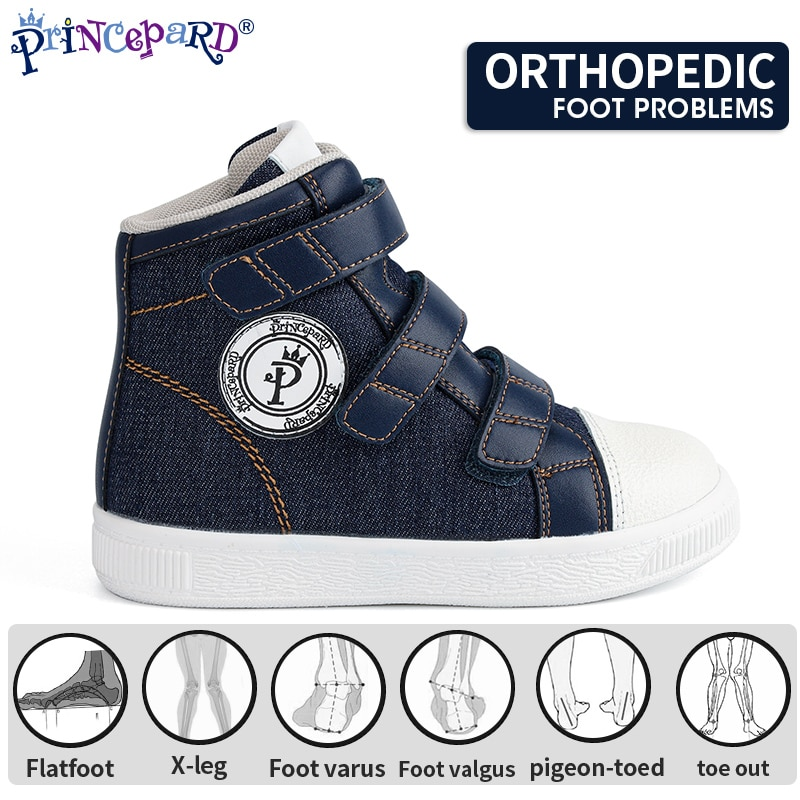 Princepard New Arrival Corrcetive Kids Shoes Flat Feet Shoes Medical Orthopedic Shoes For Toddlers With Arch Support Sneakers
