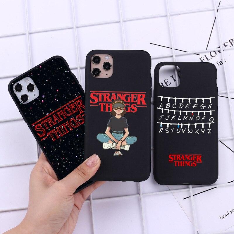 Fundas de teléfono de silicona blanda para iPhone 11 Pro Max Stranger Things, carcasa para Iphone XR SE2 5S 6 6S 7 8 Plus X XS Max