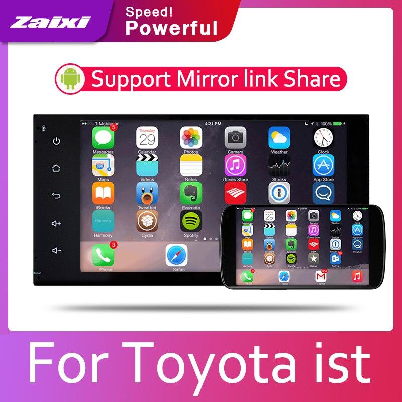 Android 8 núcleo navegación GPS para Toyota ist 2007, 2008, 2010, 2012, 2013, 2014, 2015, 2016 Radio BT 3G4G WIFI AUX USB Multimedia