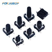 20 PIÈCES SMD 4PIN 6x6x4.3/5/6/7/8/9/10mm Micro commutateur tactile 0.5A 50V interrupteurs à bouton-poussoir 6x6x4.3mm 6x6x5mm 6x6x6mm 6x6x7mm 6x6x8mm