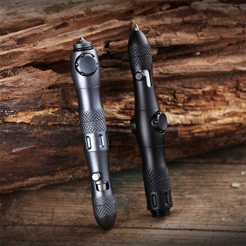 Multi-función Fidget Spinner, autodefensa, pluma táctica, linterna, rompevientos de vidrio de emergencia, herramientas EDC de supervivencia al aire libre