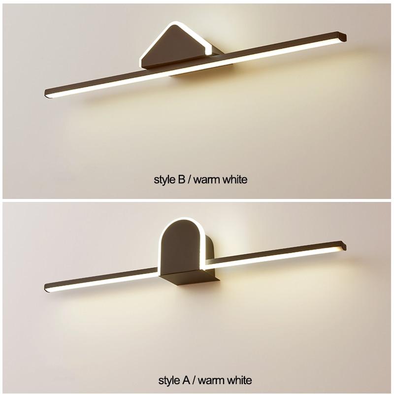 Luces LED modernas para espejo, lámpara LED de aluminio blanco y negro, accesorio para espejo de baño, 40 60 80cm, AC110-240V, Envío Gratis