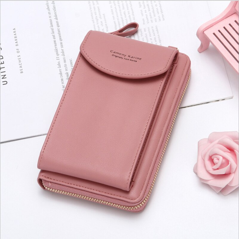 2021 Women Wallet Famous Brand Cell Phone Bags Big Card Holders Handbag Purse Clutch Messenger Shoul