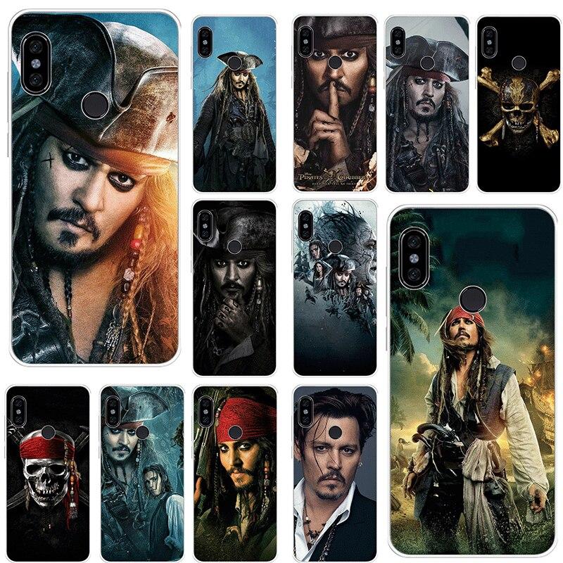 Caixa Do Telefone móvel Para Xiao mi mi 5 5S 6 mi x 2S 8 A1 A2 5X 6X Lite f1 9 9T MAX 3 A3 Pro CC9 CC9E Capa Piratas Do Caribe