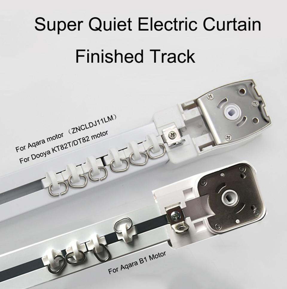 Super Silencioso Elétrica Trilha Da Cortina para Aqara zigbee/Dooya D82/KT82/M1/Aqara B1 motor, trilho de Cortina de Casa inteligente Sistema de Controle