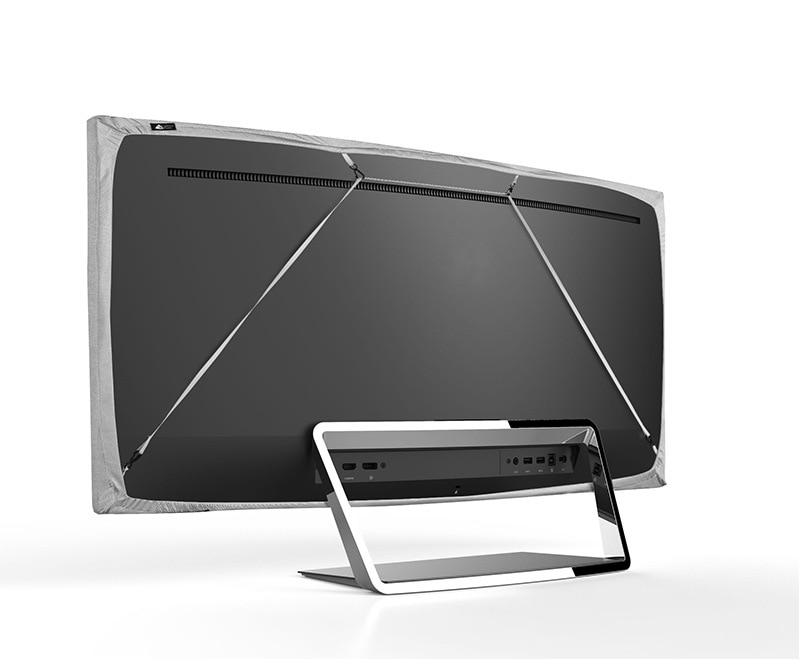 Купить с кэшбэком Universal TV Computer Monitor Dustproof Cover Hanging Cover 43/49/55inches Elastic Cloth Liquid Crystal Desktop Dust Cover