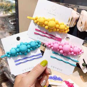 Fashion Stick Women Accessories Pearl Gift Hairpin Clip Hair Barrette Metal