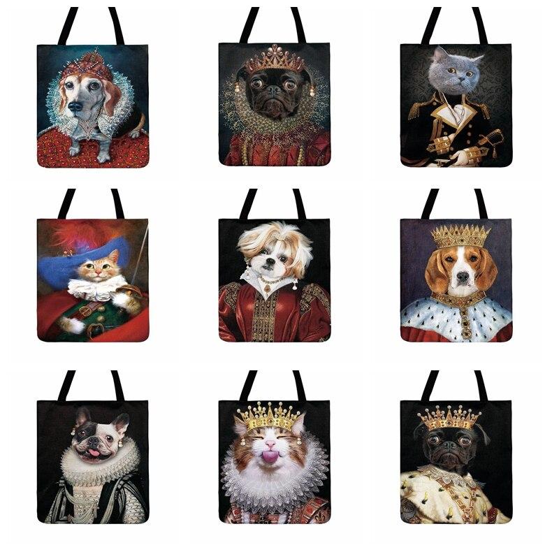 Bolso de playa a la moda con estampado barroco de pintura real de animales, bolso de mano informal para mujer, bolso de compras para exterior, bolso de hombro para mujer
