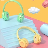 new products macaron wireless bluetooth headset headphones subwoofer stereo headset universal