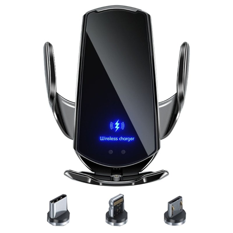 Premium Car Wireless Charger Mobile Phone Bracket Induction Opening / Closing Navigation Fixing Fram