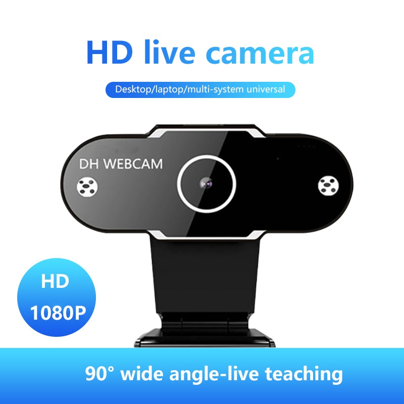 Full HD 1080P Webcam Web Camera With Mic Web Cam Mini Computer Rotatable Accessories Adjustable Angle For Video Recording Work
