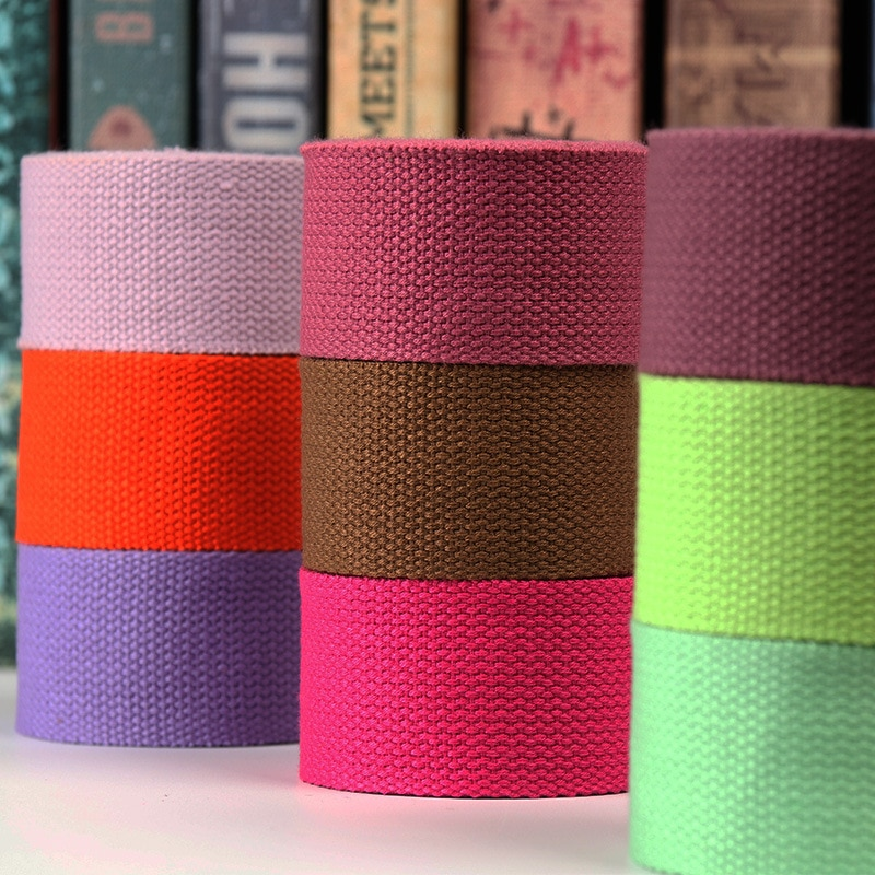 5M 38mm polyester/cotton thicker 1.4 plain canvas belt webbing Backpack strap luggage accessories ba