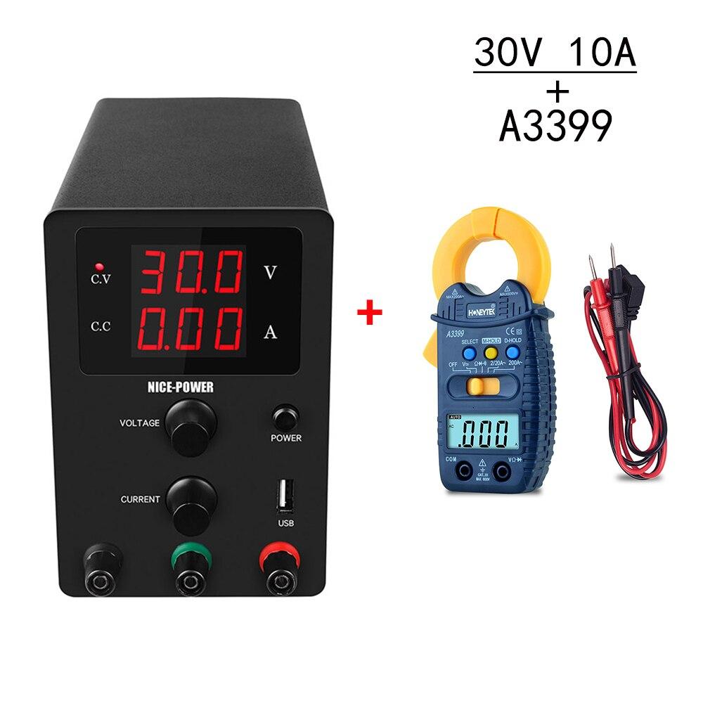 Mini usb 5v2a dc fonte de alimentação do laboratório ajustável 30v 10a tensão regulador 220 v 110 v fontes de alimentação com a3399 braçadeira medidor