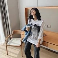 2021 womens printed oversized t shirts top anime y2k za for girls tee shirt kawaii long sleeve clothing blouses goth harajuku