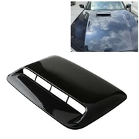 gloss black bug shield car enigine hood scoop cover air flow intake vent cover decorative replacement universal