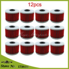 12x Oil Filter For Honda XR500 XR350 XR440 XR250 XR650L XL600R Kawasaki KX450F KFX450R KLX110 KLX140 KLX125 KLX250 KLX300