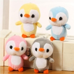 Размер 10 см прибл., плюшевая игрушка пингвин плюшевая кукла